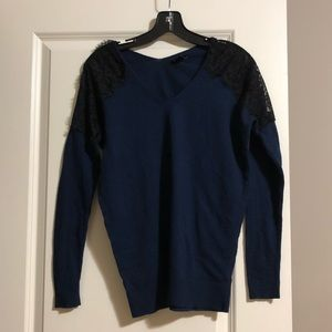 Express Sweaters - Express lace shoulder sweater